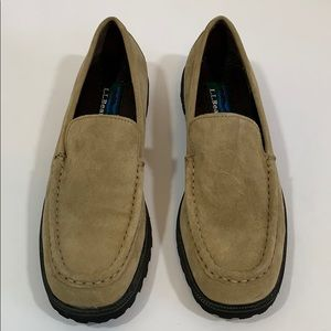 LL Bean loafers slip on leather NEW sz7.5